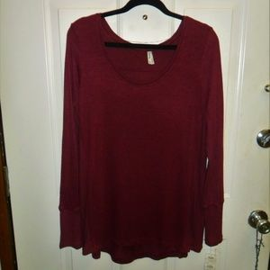 Mudd Long sleeve pull over top